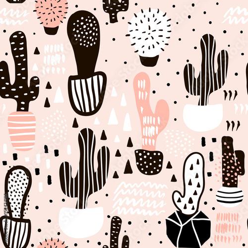 bezszwowy-wzor-z-kaktusem-i-reki-rysowac-teksturami-doskonaly-dla-tkaniny-tkanina-wektorowy-tlo