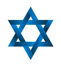 Jewish Star Symbol Logo