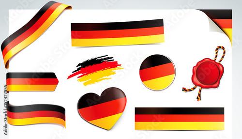 Fotografie, Obraz  Banner Set - Deutschland Flagge