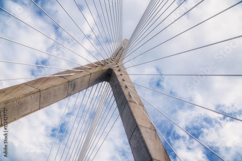 Photo cable-stayed bridge