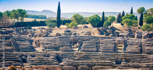 Poster Ruine Roman ruins Itálica Spain
