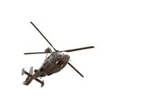 Military Helicopter In Flight,...