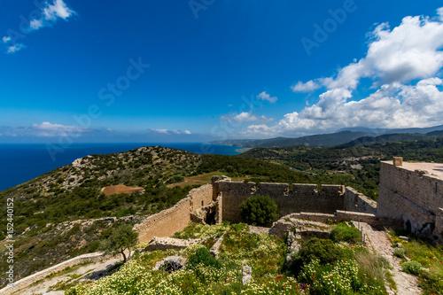 Foto op Plexiglas Cyprus Medieval castle of Kritinia (Kastellos), Rhodes island, Greece