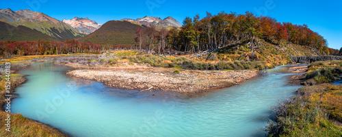 Fotografie, Obraz  Panoramic landscape of Tierra del Fuego National Park, Patagonia