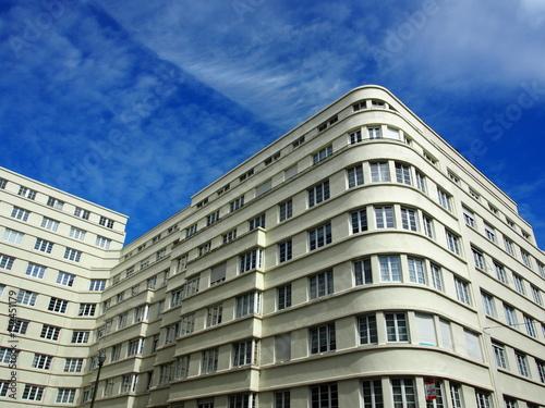 Brussel 1930er Jahre Architektur Moderne Art Deco Haus