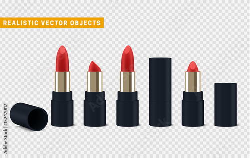 Canvastavla  Red lipstick 3d illustration of a beautiful illustration