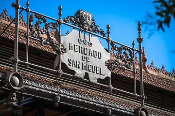 Mercado de San Miguel - famous market in Madrid, Spain