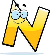Cartoon Letter N