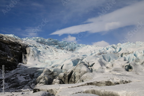 Foto op Plexiglas Arctica Fláajökull, glacier near Höfn in southeast Icelan
