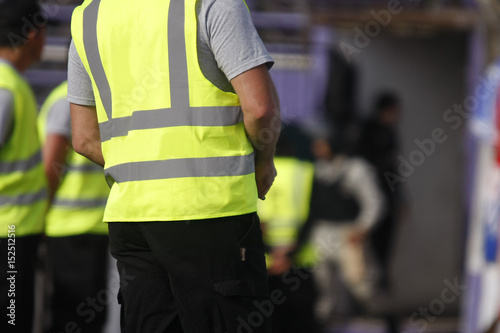 Fotomural  Security staff in sports event
