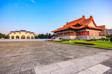 View Of Taiwan National Concert Hall, National Theater Hall Building And Chiang Kai Shek Memorial Hall Square