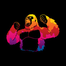 Abstract Angry King Kong, Big ...