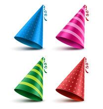 Birthday Hat Vector Set With C...
