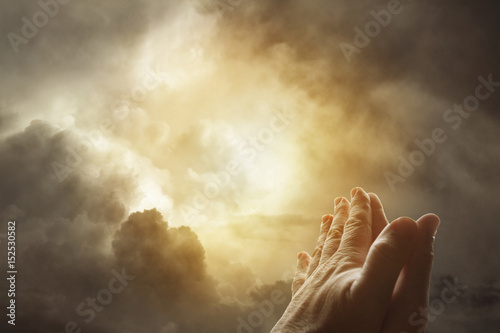 Fotografie, Tablou Prayer hands