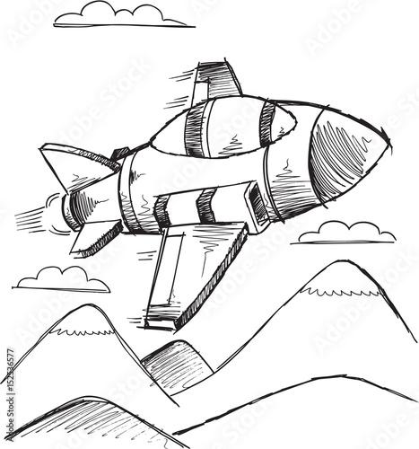 Papiers peints Cartoon draw Doodle Jet Vector Illustration Art