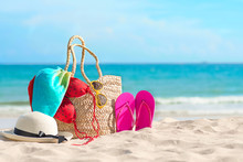 Beach Accessories On The Summe...