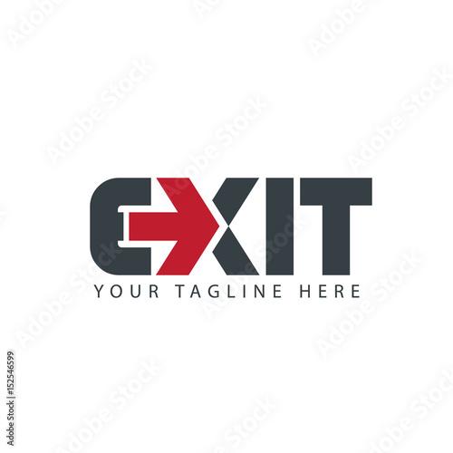 Exit Logo Design Wall mural