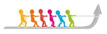 Wachstum In Teamwork: Farbige ...