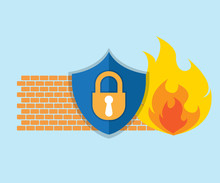 Firewall Network Security Icon