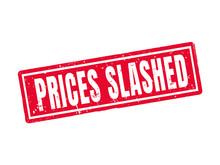 Prices Slashed Red Stamp Style