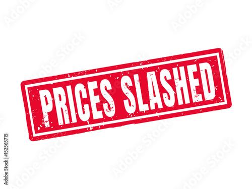 Fotografie, Obraz  prices slashed red stamp style