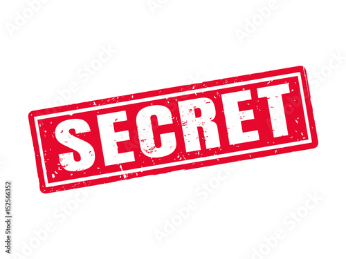 Photo  secret red stamp style