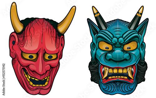 Fotografia oriental demon masks