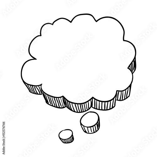 thought bubble doodle vector icon illustration graphic design Fototapet