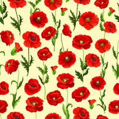 NaklejkaSpring flower field seamless pattern background