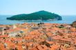 canvas print picture Dubrovnik old city center, Croatia