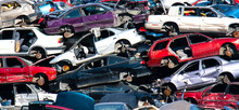 Used Cars At Scrap Yard