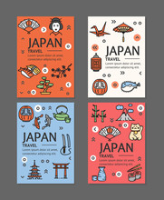 Japan Travel Flyers Placrad Ba...