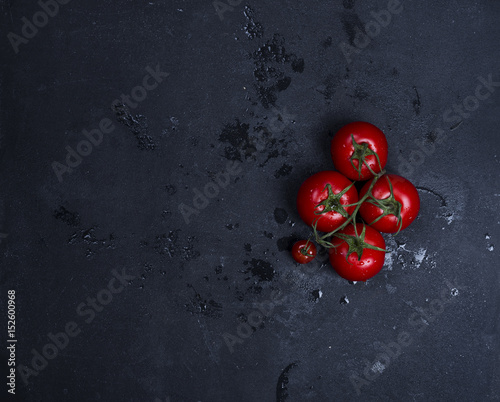 tomatoes with cooking ingredients