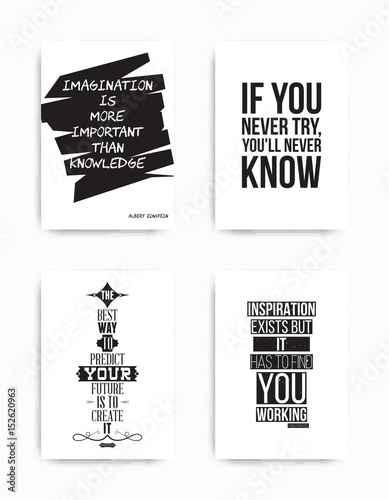 Spoed Foto op Canvas Positive Typography Set posters quote