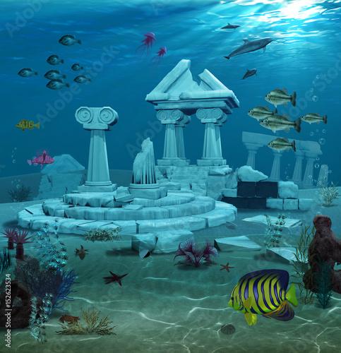 Photo Atlantis Ruins Underwater