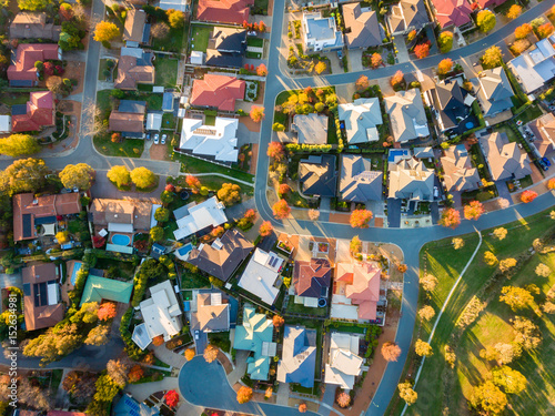 Valokuva  Aerial view of a typical suburb in Australia