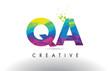 QA Q A Colorful Letter Origami Triangles Design Vector.