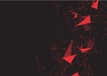 Red Abstract Polygonal Space L...