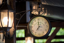 Vintage Clock And The Lights