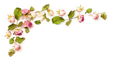 Dried Pink Rose Flowers Corner Arrangement