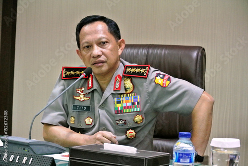 General Tito Karnavian Chief Of Indonesias National Police Force Speaks To Foreign Journalists In
