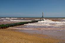 Sidmouth Beach In East Devon