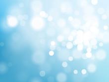 Blue Bokeh Light Sparkling Eff...