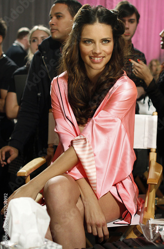 Supermodel Adriana Lima Prepares Backstage Before The Victorias Secret Fashion Show In New York
