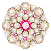 Mandala Brooch Jewelry, Design...