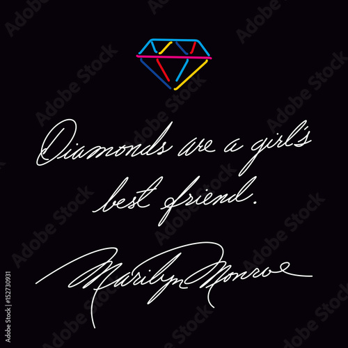 Diamonds Are A Girls Best Friend Fashion Quote Marilyn Monroes