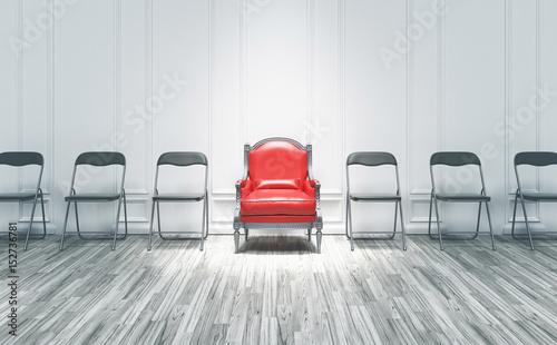 Photo Poltrona tra sedie, potere, competizione, presidente