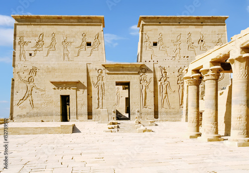 Philae Temple of Isis on Agilkia Island in Lake Nasser, Aswan, Egypt, North Africa Wallpaper Mural