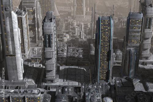 Fototapety, obrazy: Future Cityscape 3D Illustration