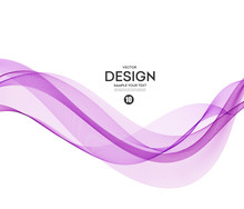 Abstract Vector Background, Purple Wavy